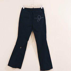 976cef8c596 Jaanuu Pants - Jaanuu Antimicrobial Black Flare Leg Scrub Pants